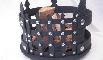 Rustic fire baskets