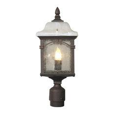 Sonoma Medium Post Mount Light, Copper