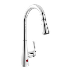 Belanger Single Handle Touchless Pull-Down Kitchen Faucet, Polished Chrome