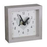 Small Grey Wooden Wall Mantel Clock