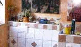 Badezimmer im typisch mediterranen Stil
