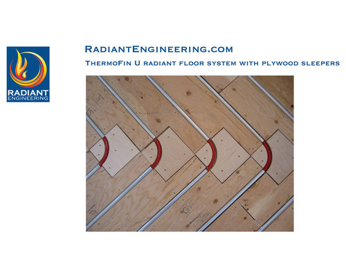 ThermoFin U Radiant Heated Floor Layout   Heating And Cooling