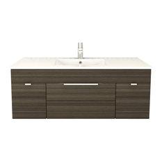 "Textures Spring Blossom 2-Door 1-Drawer Floating Bathroom Vanity, 48"""