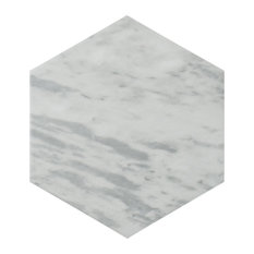 SomerTile Classico Bardiglio Hexagon Floor and Wall Tile, Case of 25, Light