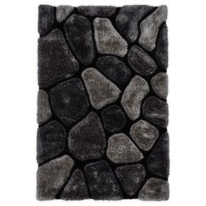 Nobel House Pebbles Grey Cobalt Rectangular Rug, 150x230 cm