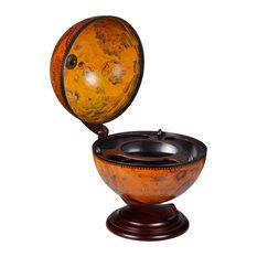 VidaXL Tabletop Bar Globe With Embowed Stand Wine Liquor Table
