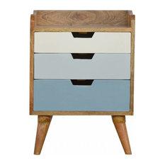 Nixon Bedside Table, Blue