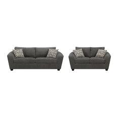 Emerald Home Urbana Sofa and Loveseat Set, Ink