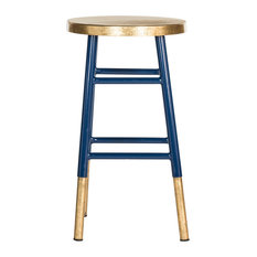 Safavieh Mari Counterstool, Navy and Gold