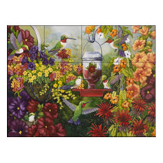 Tile Mural, Hummingbird Holiday by Nancy Wernersbach2