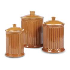 Simsbury 3-Piece Canisters Set, Honey Spice