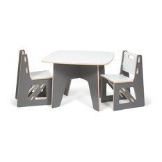 quark enterprises kids table and chairs 3piece set slate gray