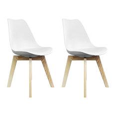 Scandi Wood X Dining Chair, White, Set of 2
