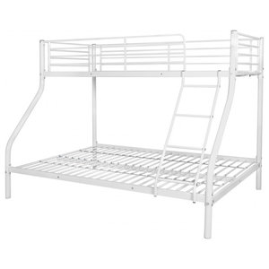 vidaXL Children's Metal Bunk Bed, White, 200x140