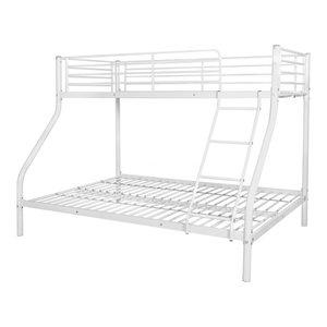 vidaXL Children's Metal Bunk Bed, White, 200x140