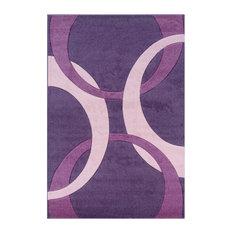 "Linon Rugs Corfu Kids Area Rug, Purple and Baby Pink, 8'x10'3"""