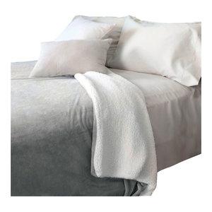 Lavish Home Fleece Blanket with Sherpa Backing, Full/Queen