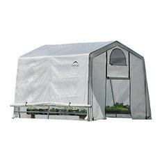 "10x10x8 Ft.Rib Peak Style Grow It Greenhouse""-A-Boxtranslucent"