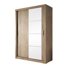 Beta 2-Door Sliding Wardrobe, Shetland Oak