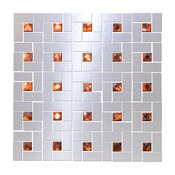 Looking Glass Mirror and Orange Diamond Bling Blend, Full Sheet