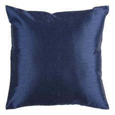 Surya Pillow Kit Down Square Estate Blue 22   x 22   Accent Pillow