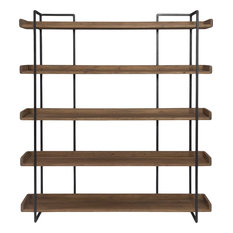 Moe's Home Collection - Moe's Vancouver Large 5-Shelf Bookcase, Light Brown - Bookcases