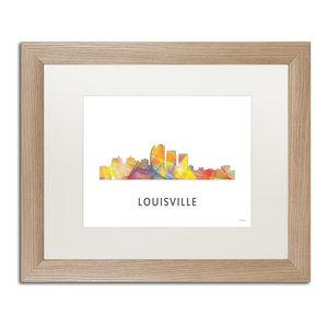 Lexington Kentucky Skyline Wb 1 Matted Framed Art
