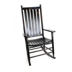 Asheville Wood Rocking Chair No. 907SRTA, Woodleaf Black