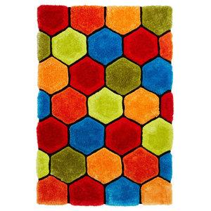 Nobel House Multi Coloured Rectangular Funky Rug, 120x170 cm