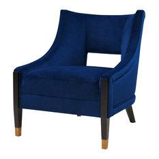 Eugene Velvet Fabric Accent Chair
