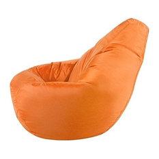 High Back Bean Bag Chair Upholstered, Waterproof Fabric, Orange