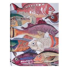 "Fish I Acrylic Painting on Canvas, 28""x40"""