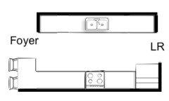 Galley Kitchen Floor Plans galley kitchen remodel open floor plan corridor and galley kitchen