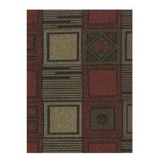 Blazing Needles S/3 Jaquard Cheneel Futon Cover Package in Tetris