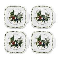 Portmeirion The Holly and The Ivy, Set of 4, Canape Plates