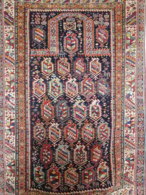enigmatic antique shirvan persian rug with provenance rugs