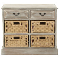 Wood 4 Basket Chest