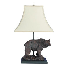 Mountain Grizzly Bear Sculpture Table Lamp