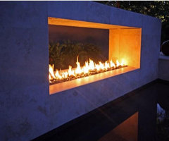 Modern Outdoor Fireplace   Contemporary   Patio   San Francisco ...