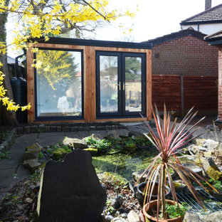 This is an example of a small modern detached studio in Cheshire.