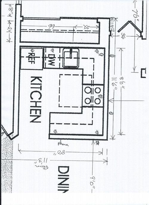 Need Help Designing A 8x8 Kitchen