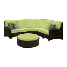 St. Tropez Sectional in Cast Oasis