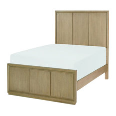 Rachael Ray Home Hudson Panel Bed, Twin, Greige