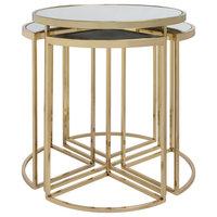 Gatsby 5-Piece Set Gold Nesting Tables