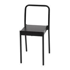 La Table Powder-Coated Steel Chair, Black
