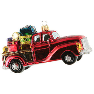 Vintage Truck With Gifts Ornament