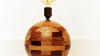 Beautiful Wooden Round Lamp