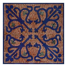 "Octagonal Geometric Mosaic, Lila Iv, 24""x24"""