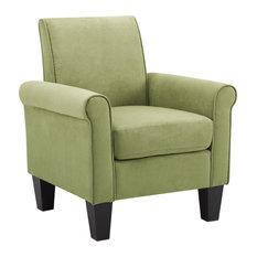 Angelo Microfiber Fabric Armchair, Green