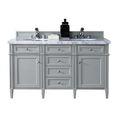"""Brittany 60"""" Double Cabinet Urban Gray, Base Cabinet Only"""